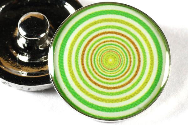 Schmuck Druckknopf, Kreise, grün, 20mm