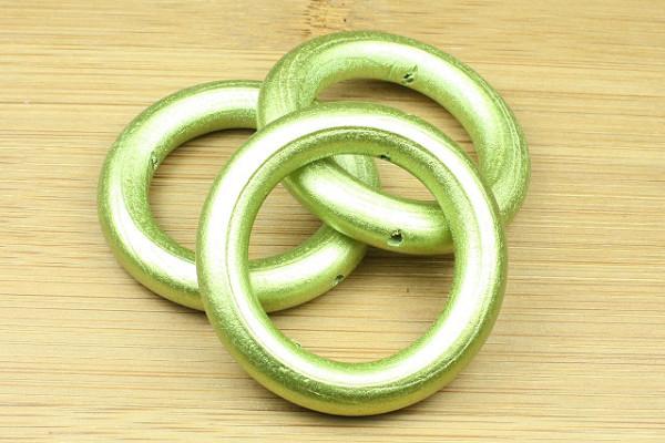 Holzringe, grün metallic, 40mm