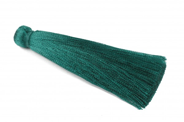 Quaste, Seide, tannengrün, 70mm