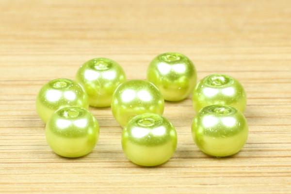 Glaswachsperlen, oliv, 4mm