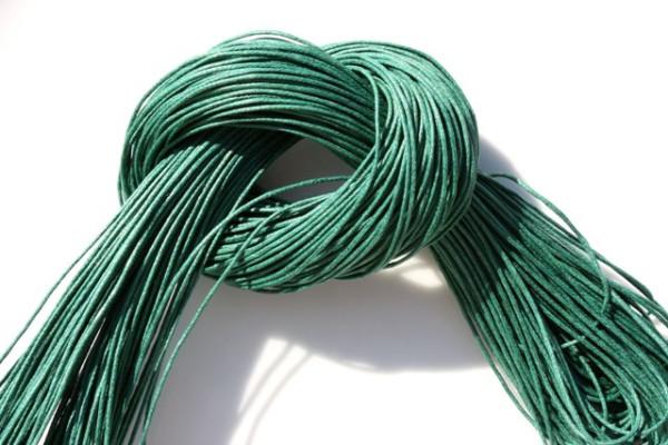 Baumwollband, gewachst, dunkelgrün, 1.0mm