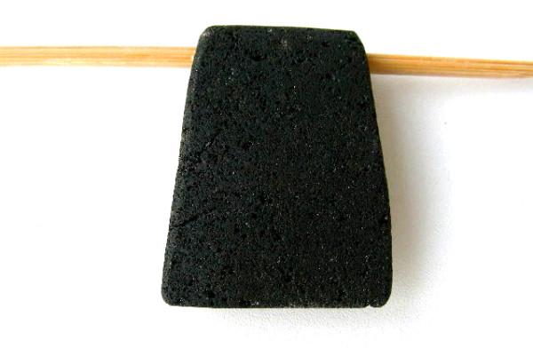 Lavaperle, Trapez, schwarz, 40x30/24x10mm