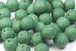 Glasperlen in Steinoptik, moosgrün, matt, ca. 6mm