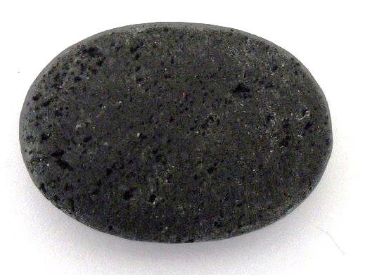 Lava Oval, schwarz, naturbelassen, ca. 35x25x9mm