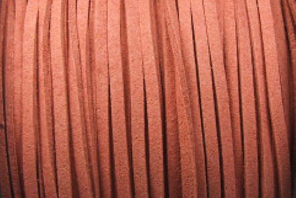 Veloursband in Wildlederoptik, flach, braun, ca. 3x1.5mm