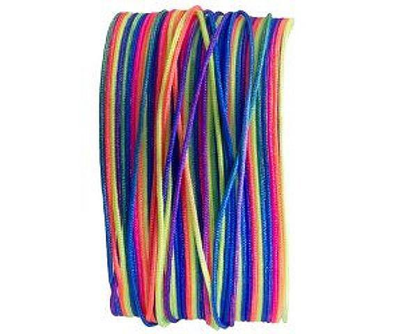 Macramé Band, 25 Meter, bunt rainbow, 0.8mm