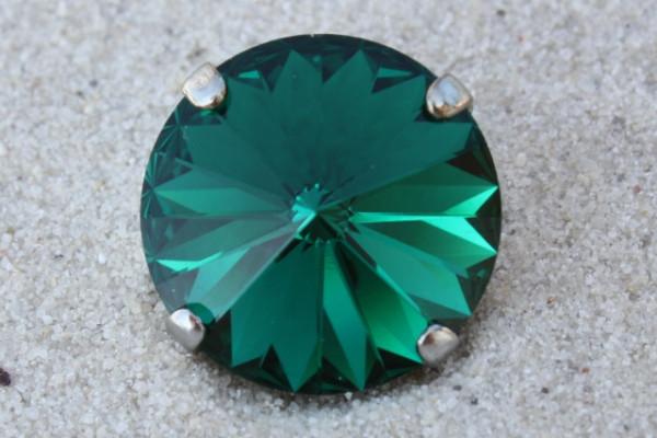 SWAROVSKI® ELEMENTS 1122 - Rivoli im Kessel, Emerald, 14mm