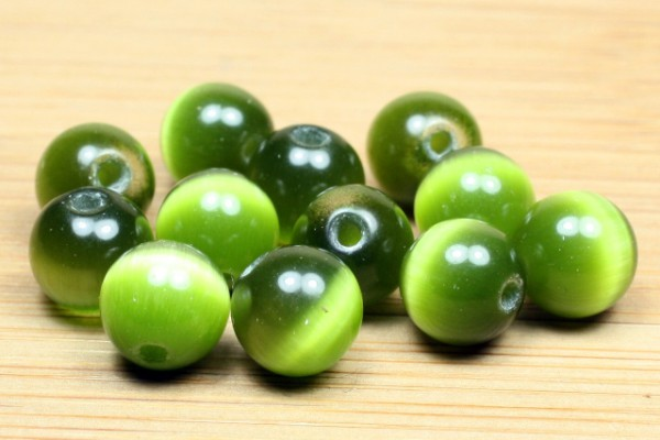 Cateye Kugel, olivgrün, 8mm