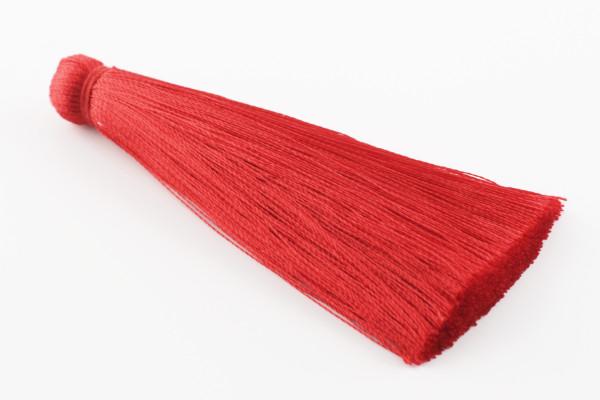 Quaste, Seide, XL, rot, 7cm