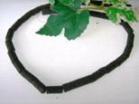 Lava Röhrchen, schwarz, natur, 12x6mm