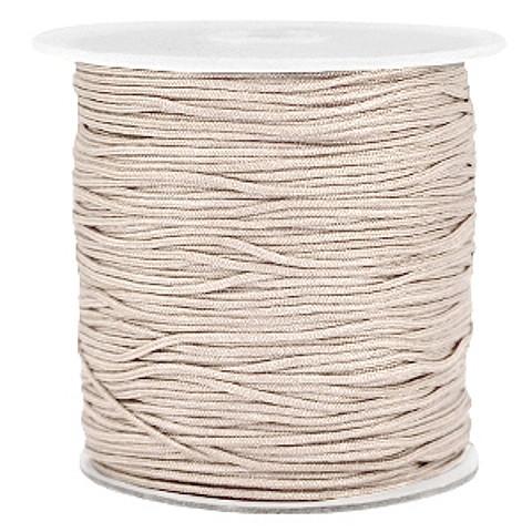 Macrameeband, beige, ca. 1mm