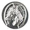 Druckknopf, Pferd mit Hufeisen, silberfarben, 20mm