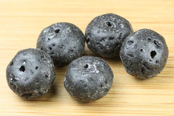 Lava-Rondell, schwarz, 13x10x10mm