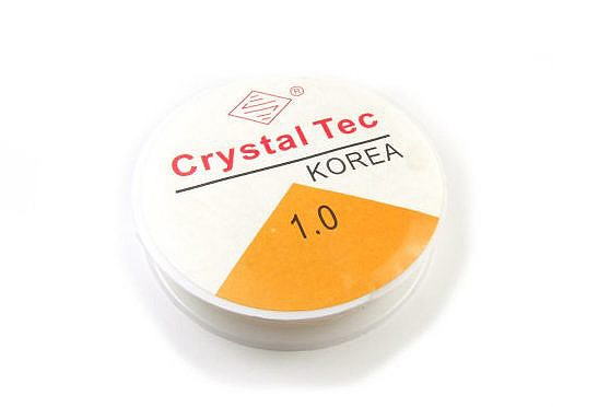 Elastikband, Crystal Tec, transparent, 1.0mm, 10 Meter
