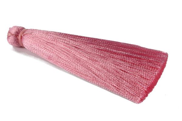 Tassel, Seide, groß, pink, 7cm
