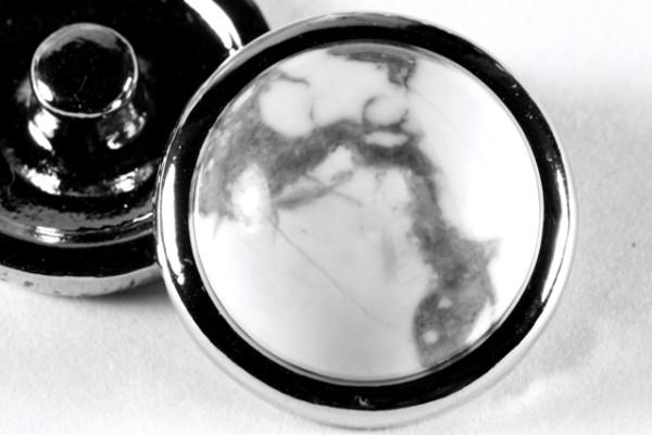 Druckknopf, Howlith, 20mm