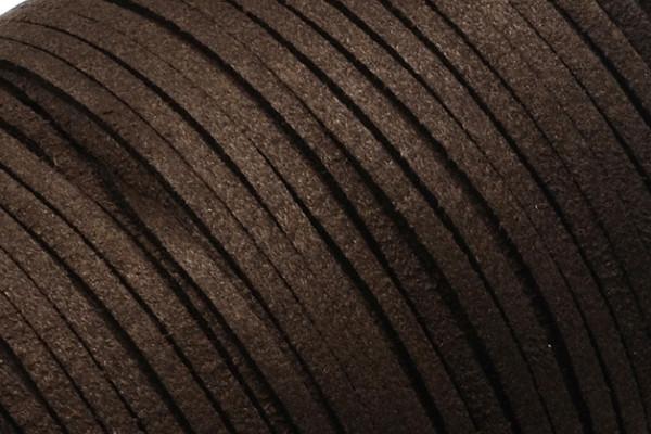 Veloursband in Wildlederoptik, flach, dunkelbraun, ca. 3x1.4mm