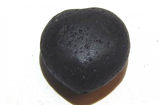 Lava Herz, schwarz, 22x22x13mm