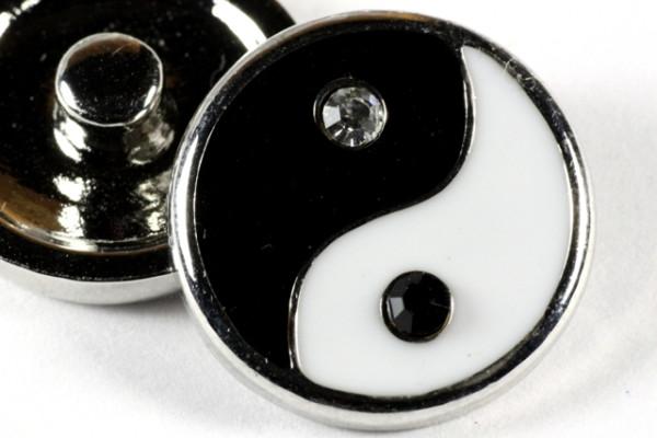 Schmuck Druckknopf, Yin und Yang, 20mm