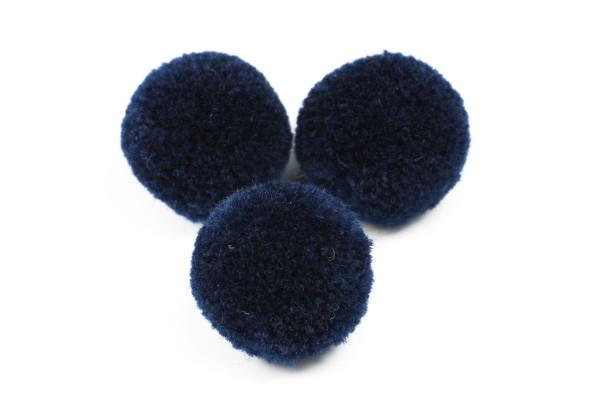 Pompoms, rund, marineblau, 20mm
