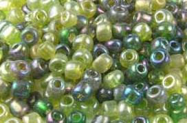 Rocailles-Mix, dschungelgrün, 3mm