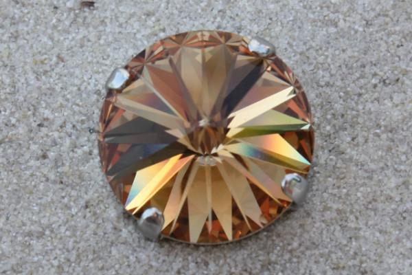 SWAROVSKI® ELEMENTS 1122 - Rivoli im Kessel, Light Colorado Topaz, 14mm