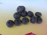 Lava Rondell, schwarz, natur, 10x7mm