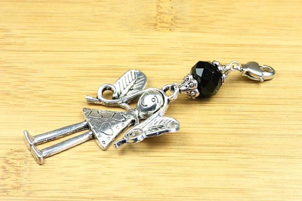 Wechselanhänger, Engel mit Kristallrondell