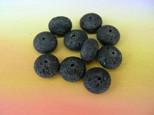 Lava Rondelle, schwarz, unbehandelt, 12x7mm