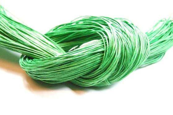 Baumwollband, gewachst, lime, 1.0mm
