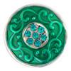 Druckknopf, Strass mittig, türkis+smaragd, ca. 20mm