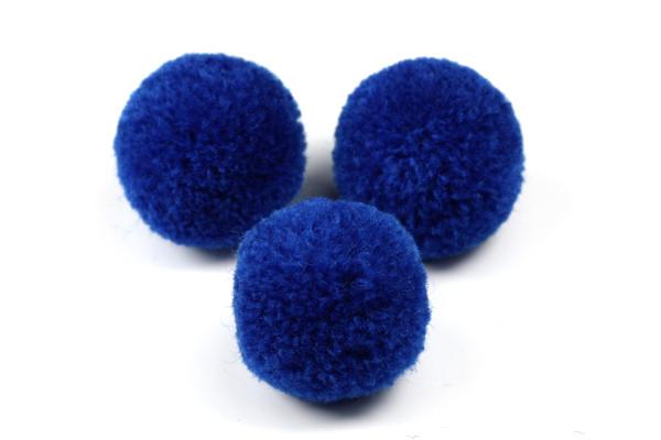 Pompons, rund, Royalblau, 2cm
