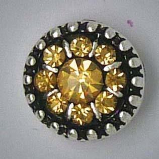 Mini Druckknopf, Strass, hellbraun, ca. 12mm