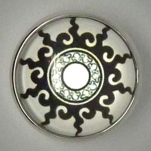 Click-Button, Sonne stilisiert, ca. 20mm