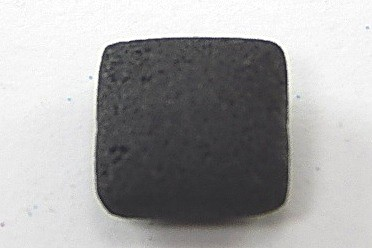 Lava Kissen, schwarz, naturbelassen, ca. 20x20x9mm